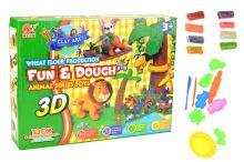 3D plastelína s formičkama - Set 18ks - 5907773988007