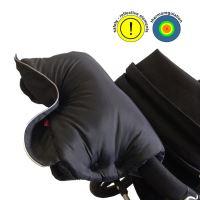Aesthetic Rukávník spojený, návlek na kočárek Klasik - černý