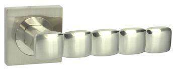 Dveřní dělené rozetové kování CORAL-QR Klika štít hranatý