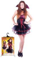 Kostým pro dospělé sexy upírka/Halloween (M) (8590687210332)