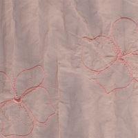 Aesthetic Rychlo-zavinovačka péřová -  vyšívaný satén /100% bavlněné plátno - vyšívaný satén 75x75cm Vnitřní barva: růžová