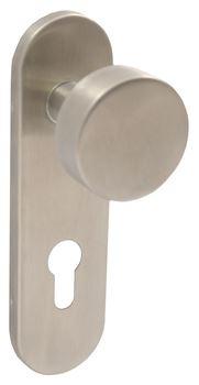 Dveřní štítové nerezové kování UNO 170 KOULE Klika štít dlouhý