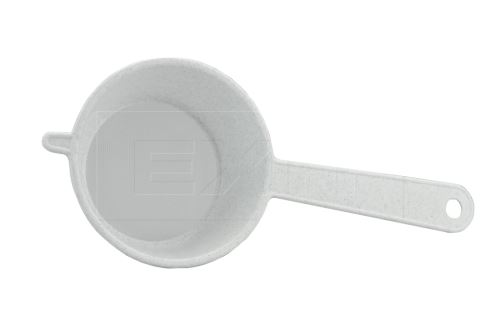 Plastový cedník TVAR 100mm (25x11cm) - Bílý - 8590394021801