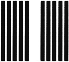 Filcová podložka U Filc - pásky 10x165 černá 10ks