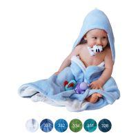 Aesthetic Osuška dětská s kapucí - mix barev- kluk - mikroplyš - bambusové vlákno - 95x95 cm Barva: 332 tyrkysová
