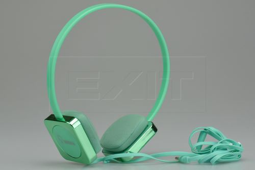 Stereo sluchátka s mikrofonem KEEKA (KE-700) - Zelené - 8595589001316