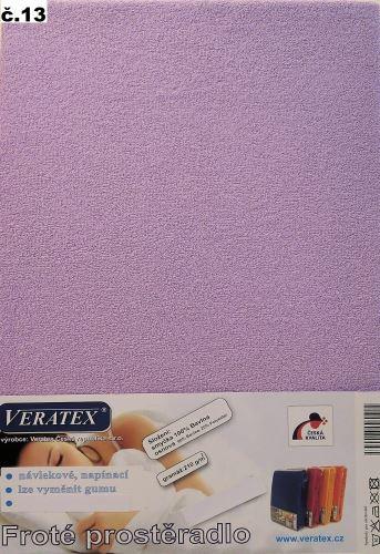 VERATEX Froté prostěradlo 120x200/16 cm (č.13-fialková)