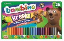 Bambusové tužky v dřevěném rámu, 26 barev + ořezávátko v kovové krabici