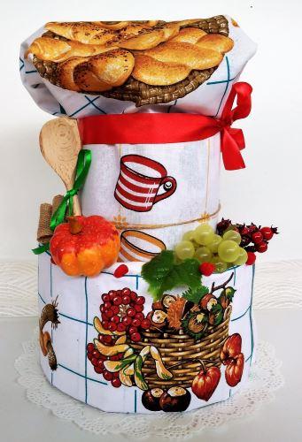 VERATEX Veratex Textilní kuchyňský dort dvoupatrový