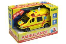 Záchranka pro kluky (14cm) - Vozidlo ambulance se zvukovými a světelnými efekty - 8590331110964
