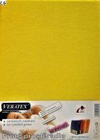 VERATEX Froté prostěradlo dvoulůžko 180x200/16cm (č. 6-stř.žlutá)