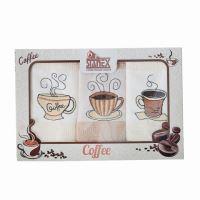 Stanex Coffee dárkový set - vaflové utěrky 3ks