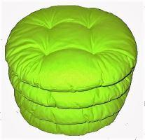 VERATEX Sedák prošívaný kulatý průměr 40cm (žlutozelený)