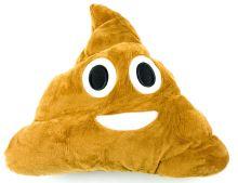 Emoji Dekorativní polštář Emoji - hovínko s úsměvem