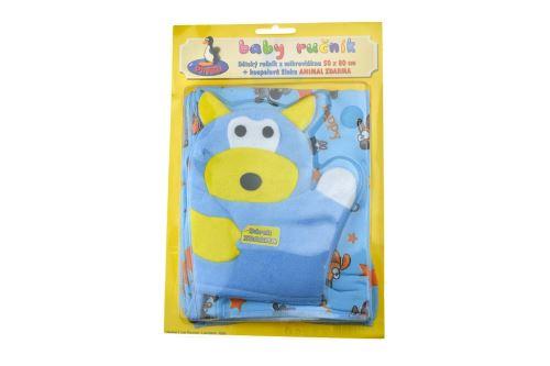 Dětský ručník z mikrovlákna + koupelnová žínka