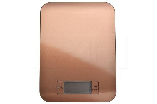 Nerezová kuchyňská digitální váha EH (22x16cm) do 5kg - Měděná barva - 8719987100017