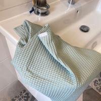 Aesthetic Bavlněný ručník/osuška s vaflovým vzorem - Mentolová Rozměr: 95x150 cm