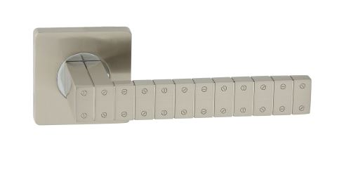 Dveřní dělené rozetové kování MOSTAR-QR Klika štít hranatý