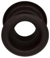 Mřížka plastová dveřní kruhová vnitřní průměr 40 mm černá
