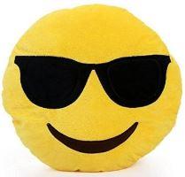 Dekorační polštář Emoji - brýle