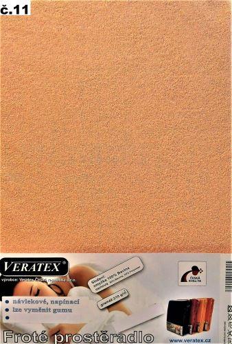 VERATEX Froté prostěradlo 100x200/16 cm (č.11-lososová)