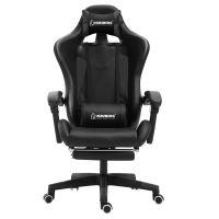 Herzberg HG-8080: Herzberg HG-8080: Ergonomická herní židle ve stylu závodního vozu černá