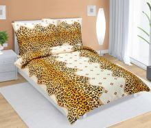 VERATEX Krepové povlečení 70x90 - 140x200 cm 80/238 leopardí vzor