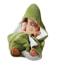 Aesthetic Osuška dětská s kapucí - mix barev- kluk - mikroplyš - bambusové vlákno - 95x95 cm Barva: 334 limetková
