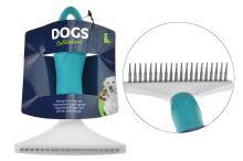 Kartáč na vyčesávání srsti DOGS (11x15cm) - Mix barev - 8719987013867