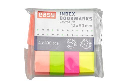 Zvýrazňující samolepící záložky EASY (12x50mm) - 400 lístků mix barev - 5905339489203
