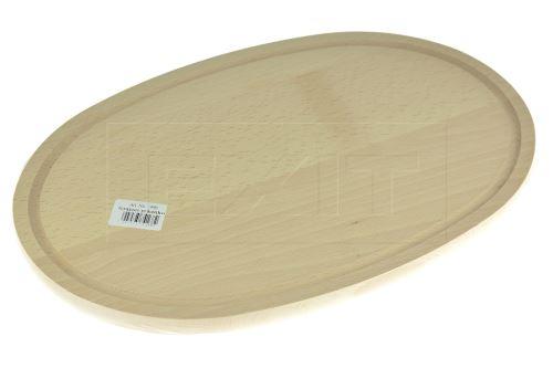 Dřevěné prkénko (38x25cm) - Oválné - 5907595741682