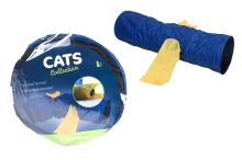 Tunel pro kočky - Modrý (30x115cm) - 8719987392504
