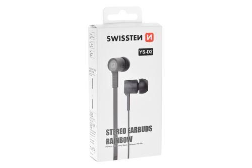 Stereo sluchátka s mikrofonem SWISSTEN YS-D2 - Černé - 8595217445819