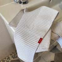 Aesthetic Bavlněný ručník/osuška s vaflovým vzorem - Ice Grey Rozměr: 47x70 cm