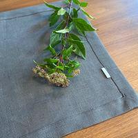 Aesthetic Lněné prostírání 100% len, gramáž 265g/m2 -  Graphite Grey