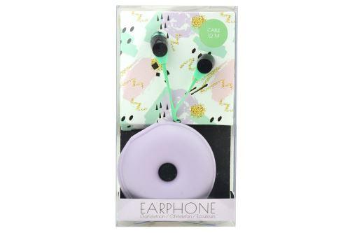 Sluchátka s obalem na přenášení - Zelené, fialový obal - 8719987128530