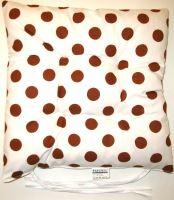 VERATEX Sedák prošívaný  40x40 cm (hnědý puntík)