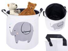 Organizér koš na prádlo kontejner na hračky slon oblečení