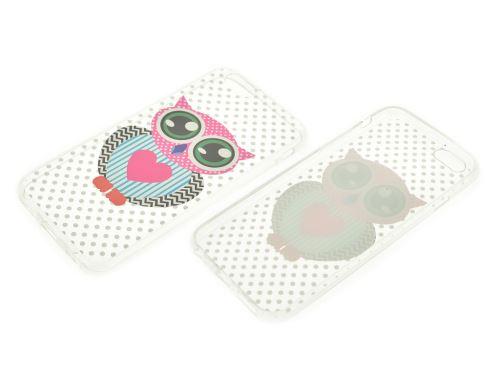 Plastový kryt na iphone 6 Plus - Sova s puntíky, čiré - 8657988017654