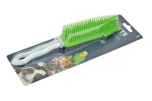 Silikonový masírovací kartáč pro zvířata - Zelený (27cm) - 8711295959653
