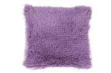 Luxusní povlak na polštářek s dlouhým vlasem 40x40 - Fialový - I9508