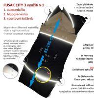Aesthetic Fusak CITY 3v1 univerzální - Klasik - modrá -mix barev Vnitřní barva: 301 smetanová
