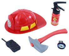 Sada hasičská helma a příslušenství (8590687086128)