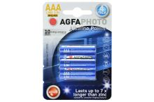 Alkalické baterie Agfa Photo AAA LR03 1.5V - 4ks - 4250175808000
