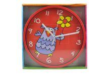 Dětské nástěnné hodiny SEGNALE (23cm) - Sova - 8718158959980