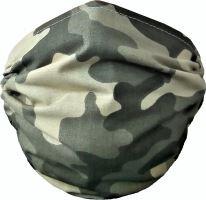 VERATEX Rouška dětská bavlněná 2-vrstvá 60°C zelený maskáč