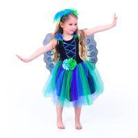 Dětský kostým paví víla (S) (8590687198678)