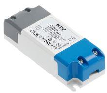 GTV  LD-ZASPRO07W-30 LED trafo AC220-240/DC12V, 7W ,  IP20