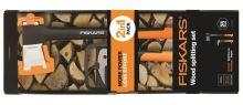 Fiskars Sada na štípaní dřeva: Sekera X21 + Sapina XA2 (1025438)