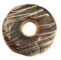 Dekorativní čokoládový koblihový polštář s polevou